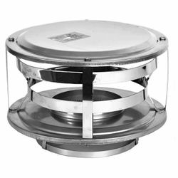 "7"" Champion 316L Stainless Steel Wood-Style Rain Cap"