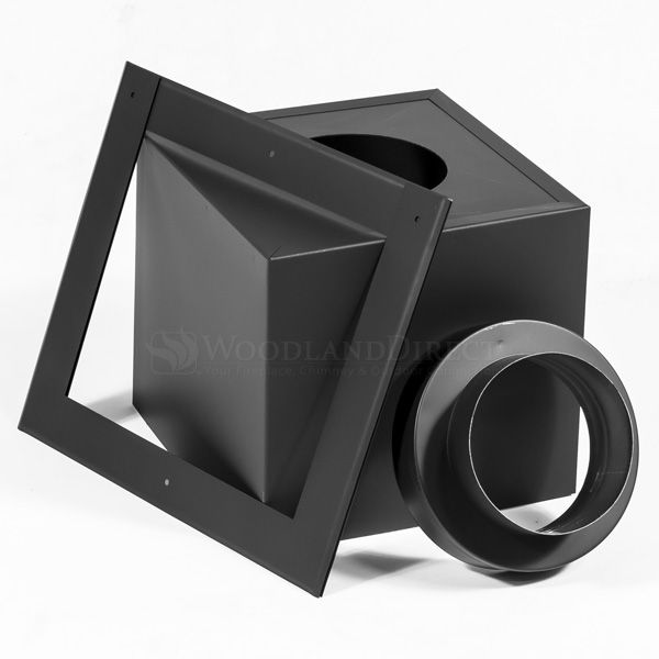 """7"""" Champion Black Square Ceiling Support - 24"""" Extension image number 0"""
