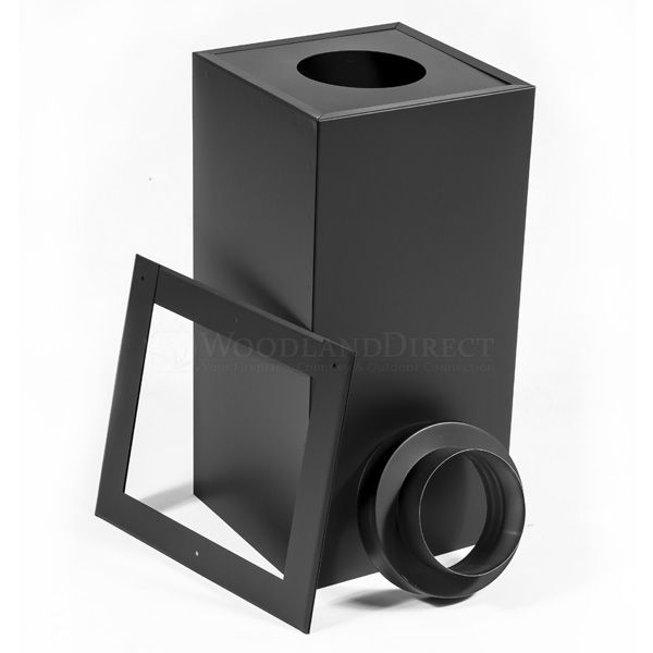 """7"""" Champion Black Square Ceiling Support - 24"""" image number 0"""