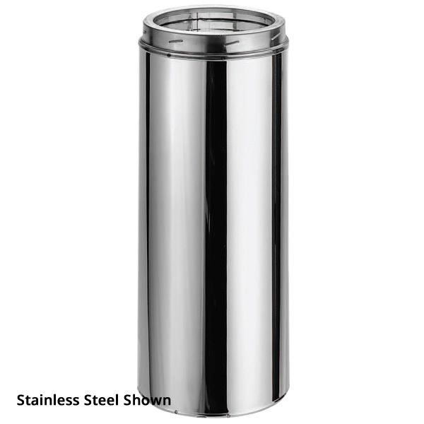"""7"""" DuraTech Stainless Steel Chimney Pipe - 12"""" length image number 0"""