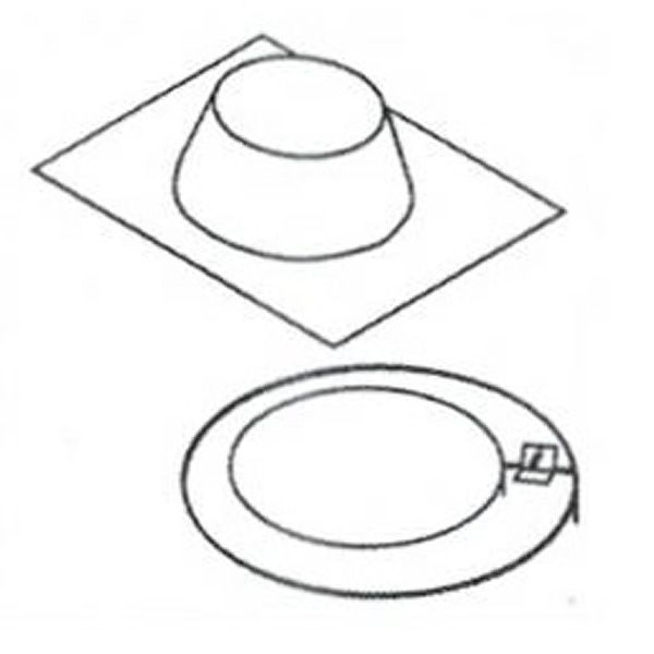 """8"""" Diameter Superior Pitch Roof Flashing - 1/12-7/12 image number 0"""