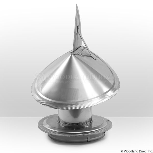 """8"""" Champion 304L Stainless Steel Wind Directional Rain Cap image number 0"""