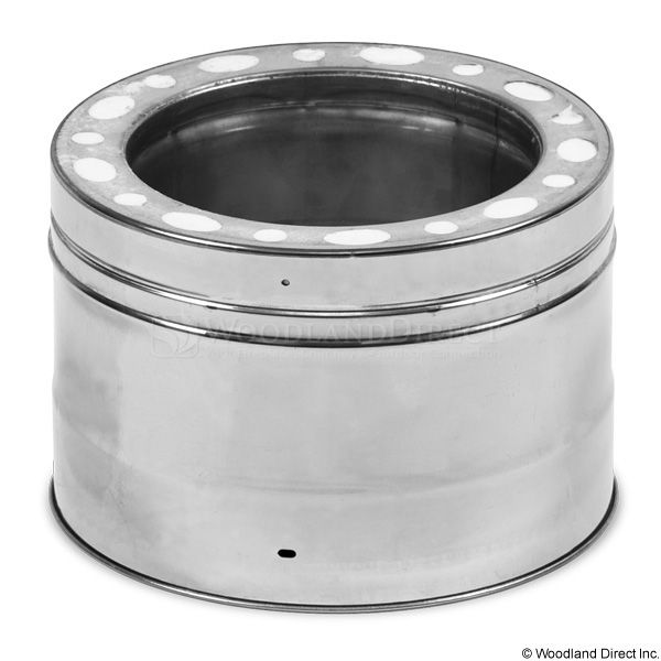 """8"""" Champion 316L Stainless Steel Chimney Pipe - 6"""" length image number 0"""