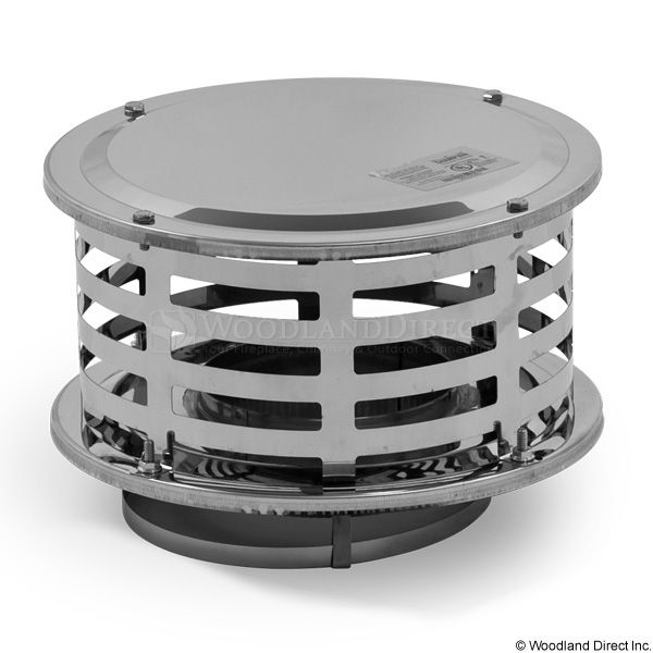 """8"""" Champion 316L Stainless Steel Standard Rain Cap image number 0"""