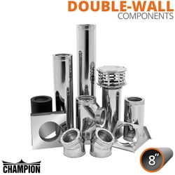 "8"" Champion Stainless Steel Class A Solid Fuel Components"