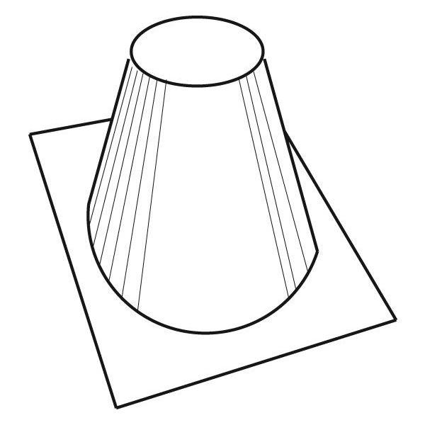 """8"""" Diameter Superior Flashing 0/12 - 6/12 Pitch - 30"""" Base image number 0"""