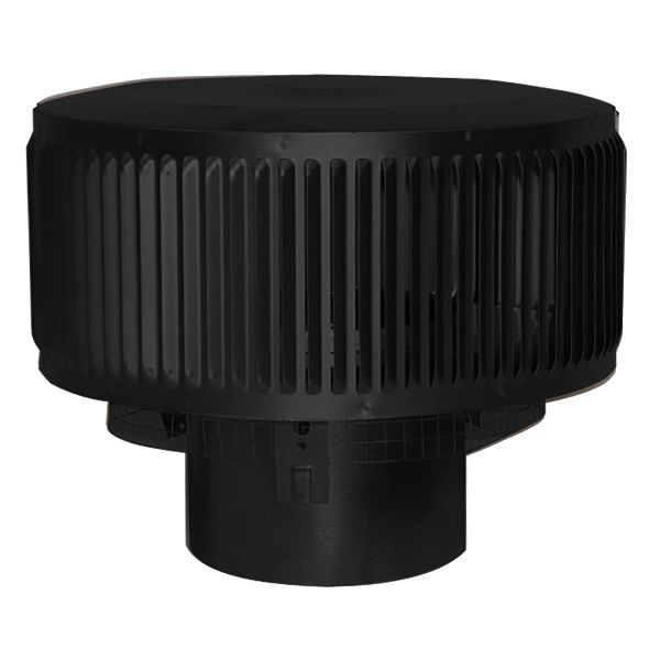 "8"" Diameter Superior Wood-Burning Black Round Top with Louvers image number 0"