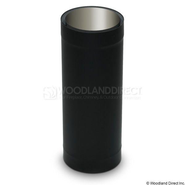 "8"" Diameter Champion Premium Double Wall Black Stove Pipe - 18"" image number 0"