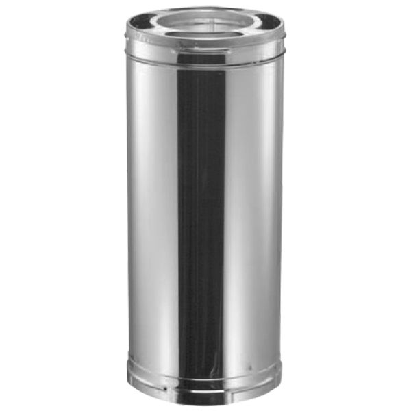 """8"""" DuraPlus Stainless Steel Chimney Pipe - 24"""" length image number 0"""