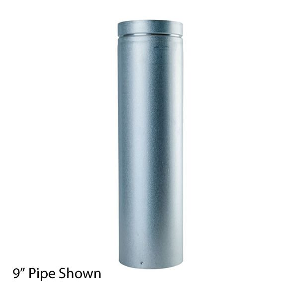 """9"""" Unpainted Direct Vent Pipe - 4"""" Dia image number 0"""