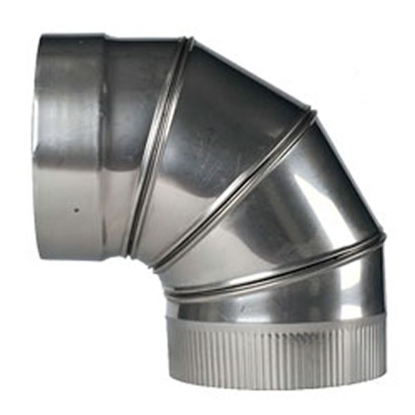 "90º Champion Adjustable Elbow (304L) - 6"" image number 0"