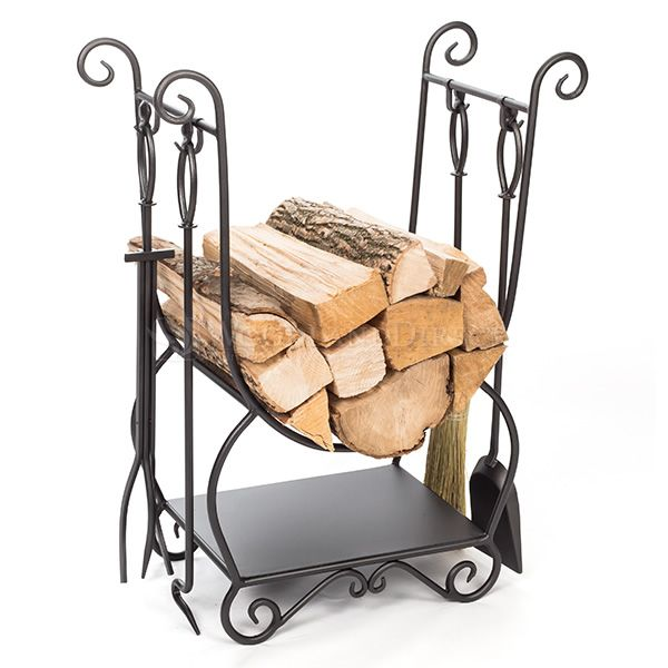 Minuteman Country Indoor Firewood Rack with Tools image number 0
