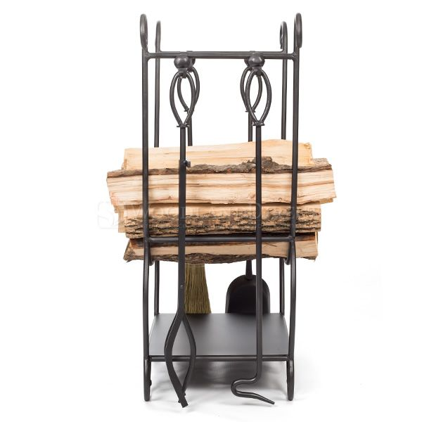 Minuteman Country Indoor Firewood Rack with Tools image number 2