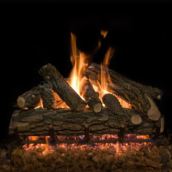 Country Oak Deluxe See Through Vented Gas Log Set image number 0