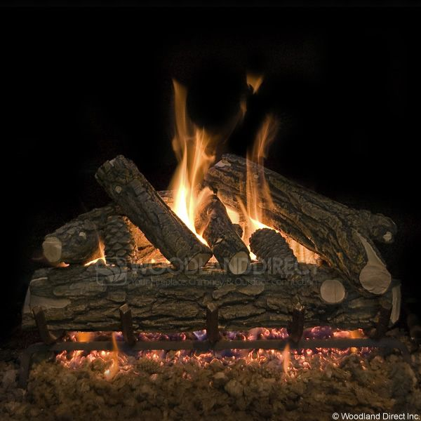 Country Oak Deluxe Vented Gas Logs Only image number 0