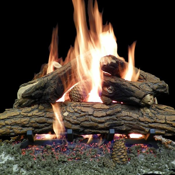 Country Oak Deluxe Weathered Vented Gas Logs Only image number 1