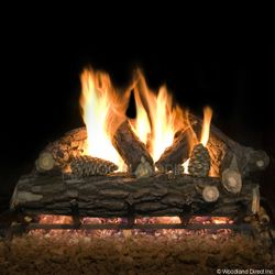 Country Oak Deluxe Weathered Vented Gas Logs Only