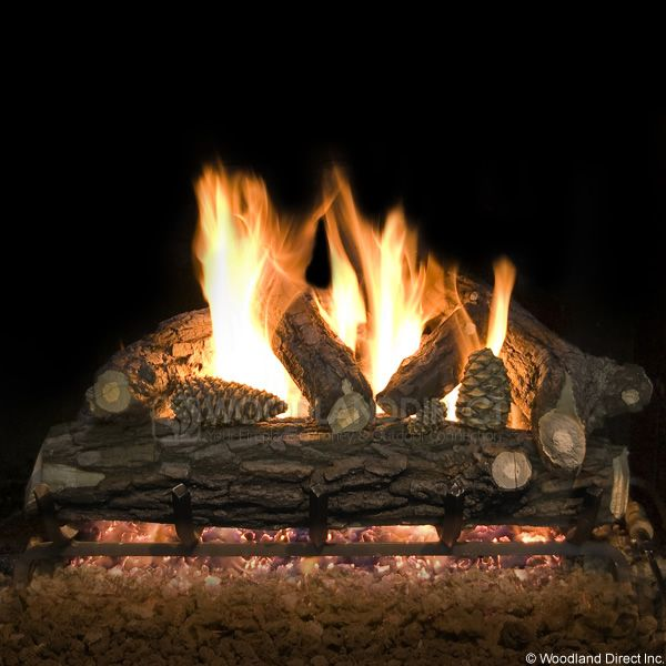 Country Oak Deluxe Weathered Vented Gas Logs Only image number 0