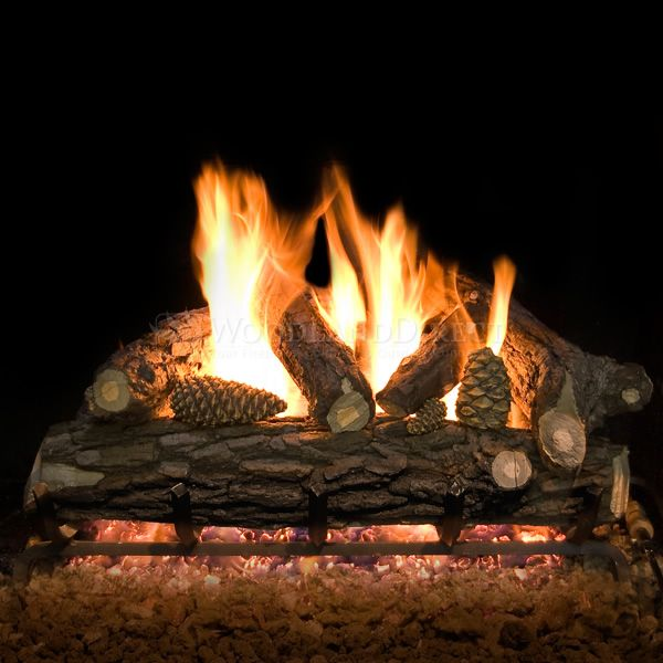 Country Oak Deluxe Weathered Vented Gas Log Set image number 0