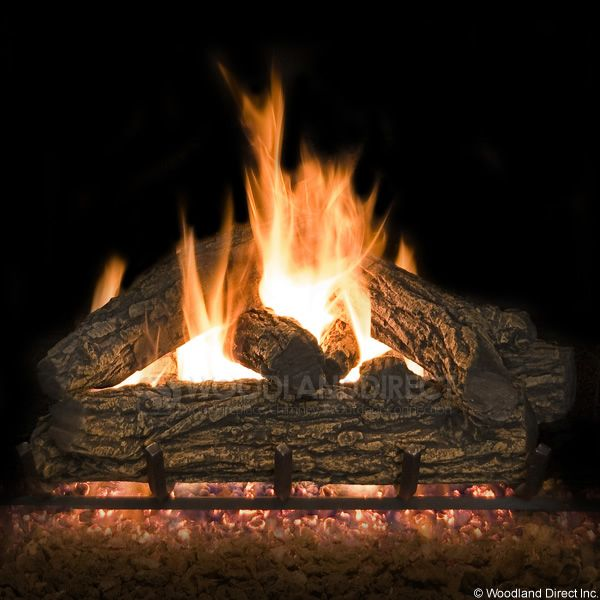 Country Oak Vented Gas Logs Only image number 0