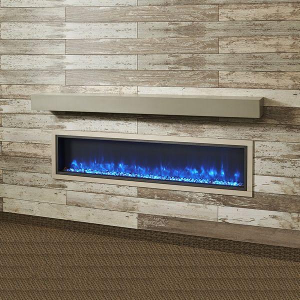 "Cove Grey Supercast Fireplace Mantel Shelf - 72"" image number 0"