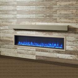 "Cove Grey Supercast Fireplace Mantel Shelf - 72"""