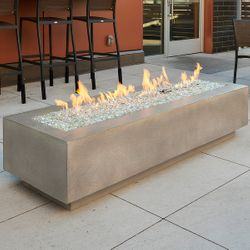 "Cove 72"" Linear Gas Fire Table"