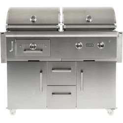 Coyote Hybrid Gas/Charcoal Grill on Cart - 50""