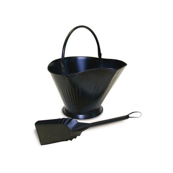 Coal / Pellet Bucket with Shovel - Matte Black image number 0