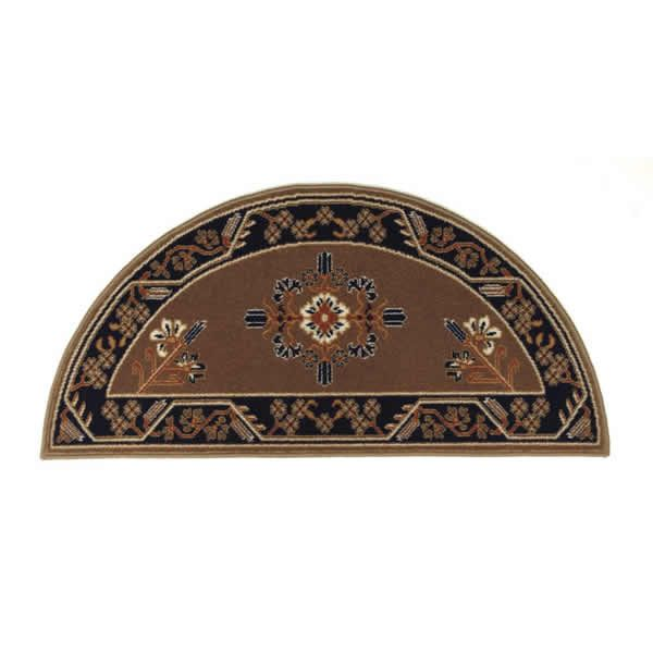 "Cocoa Jardin Half Round Fireplace Hearth Rug - 44""x22"" image number 0"