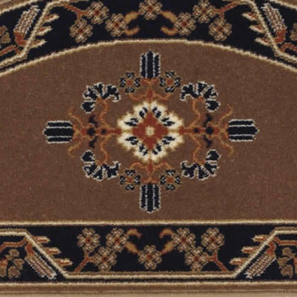 """Cocoa Jardin Half Round Fireplace Hearth Rug - 44""""x22"""" image number 1"""