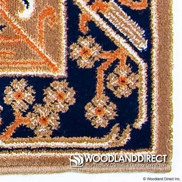"Cocoa Jardin Rectangular Fireplace Hearth Rug - 44""x22"" image number 1"