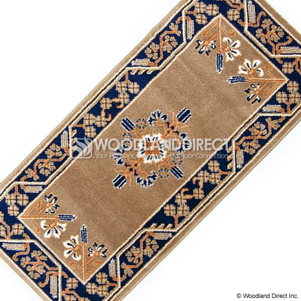 "Cocoa Jardin Rectangular Fireplace Hearth Rug - 44""x22"" image number 2"