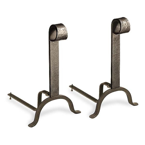 Colonial Vintage Iron Andirons image number 0