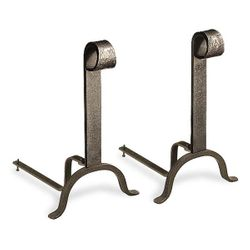 Colonial Vintage Iron Andirons