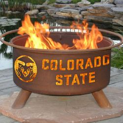 Colorado State Wood Burning Fire Pit