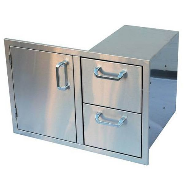 Combination Single Door with Double Drawer image number 0