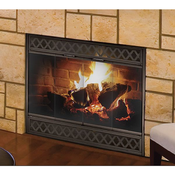 Clearview Reserve Mesh Masonry Fireplace Door image number 1