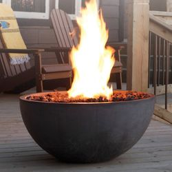 Concrete Gas Fire Pit Bowl