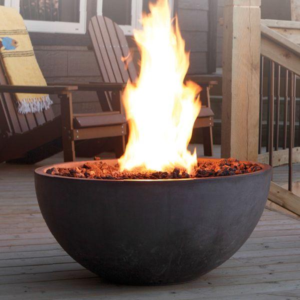 Concrete Gas Fire Pit Bowl image number 0