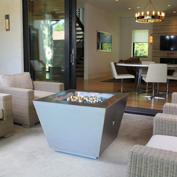 Cono Fia Stainless Steel Gas Fire Pit image number 0