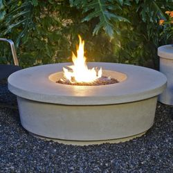 Contempo Round Gas Fire Pit Table
