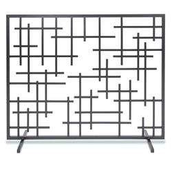 "Contemporary Fireplace Screen - 39"" x 31"""