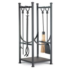 Contemporary Indoor Firewood Rack with Tools