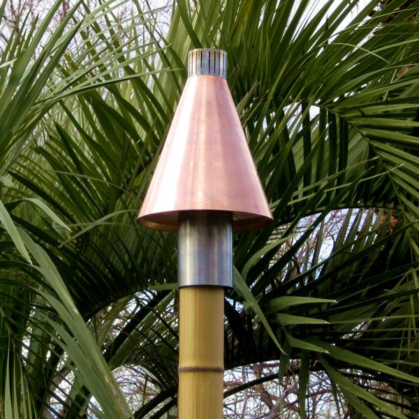 Copper Cone Gas Tiki Torch image number 0