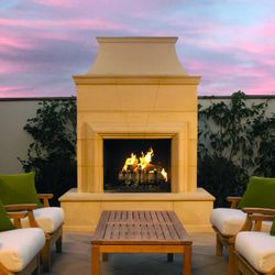 Cordova Vent Free Outdoor Gas Fireplace