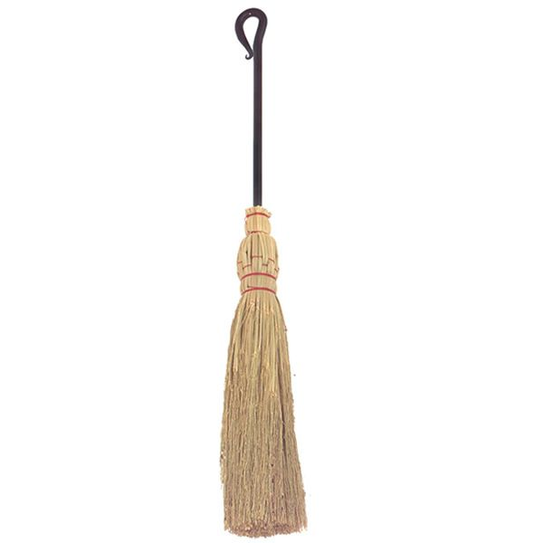 Corn Broom with Wrought Iron Hook - Short image number 0