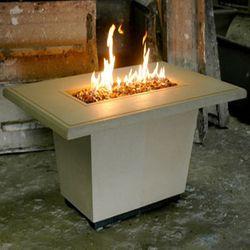Cosmopolitan Rectangle Gas Fire Pit Table