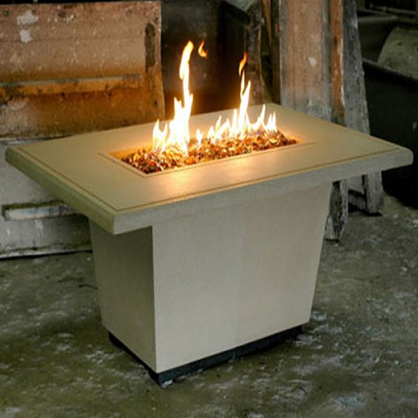 Cosmopolitan Rectangle Gas Fire Pit Table image number 0