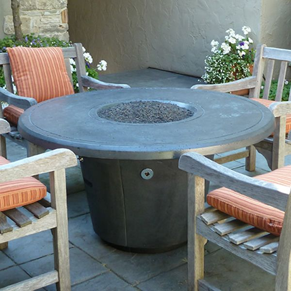 Cosmopolitan Round Gas Fire Pit Table image number 0